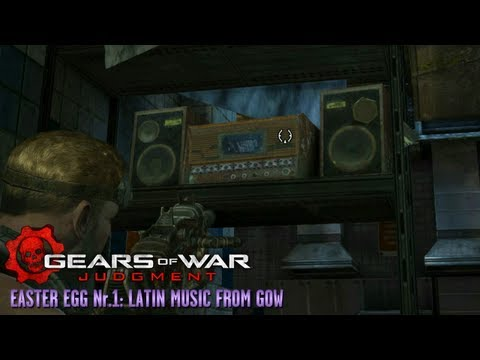 Gears of War: Judgment - Easter Egg #1 - Latin Music from GOW