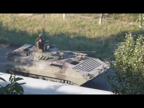Ukraine War - Russian army convoy rolling into Lugansk oblast of Ukraine