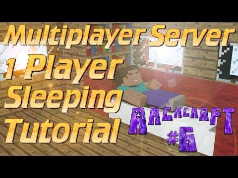 Minecraft Server Friendly 1-Player Sleep Tutorial for Minecraft 1.12   ArchCraft Ep6 The Update Tour