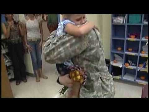 Solider, Daughter Reunite At Seminole School