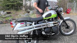 Triumph Scrambler exhaust with D&D Slip-on Mufflers
