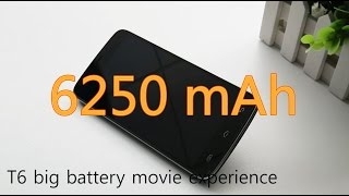 DOOGEE T6 6250mAh big battery movie experience:let