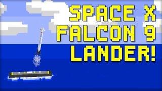 SpaceX Falcon 9 Lander - 8-Bit Flash Game