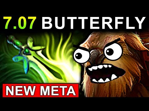 NEW META BUTTERFLY EARTHSHAKER - DOTA 2 PATCH 7.07 EPIC GAMEPLAY