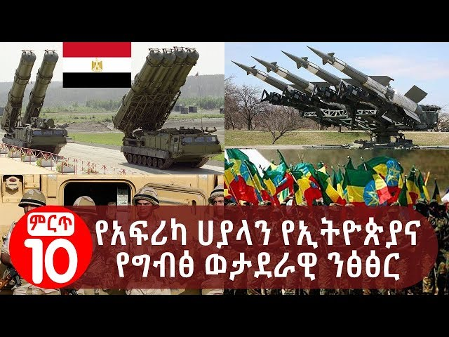 Egyptian and Ethiopian Military Contrast