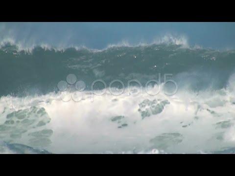 Ocean Giant Wave. Stock Footage