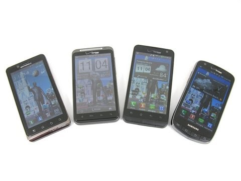 Video: Motorola DROID BIONIC vs HTC ThunderBolt vs Samsung Droid Charge vs LG Revolution