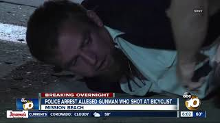Police arrest man accused of shooting rifle at bicyclist on Mission Beach boardwalk