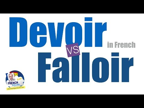 falloir vs devoir in French