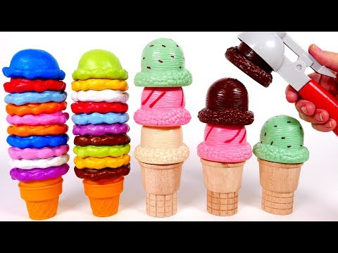 Learn your Colors with Ice Cream Playset Toys for Children
