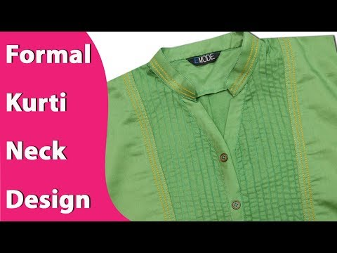 Formal kurti neck design cutting and stitching