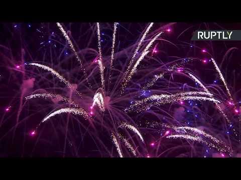 В Москве проходит Международный фестиваль фейерверков «Ростех» — LIVE