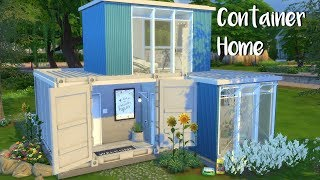 The Sims 4: Speed Build- CONTAINER HOME + CC List