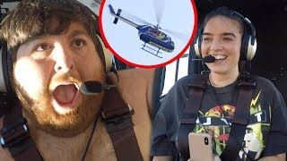 SCARING BEST FRIENDS WITH HELICOPTER RIDE!!