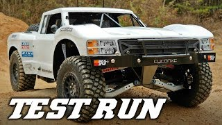 Custom 4x4 RC Trophy Truck - Part 7: First Test Run on 3s
