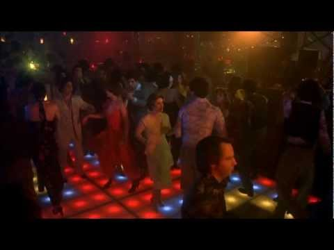 Saturday Night Fever (Disco Inferno The Trammps) John Travolta dancing HD 1080 with Lyrics