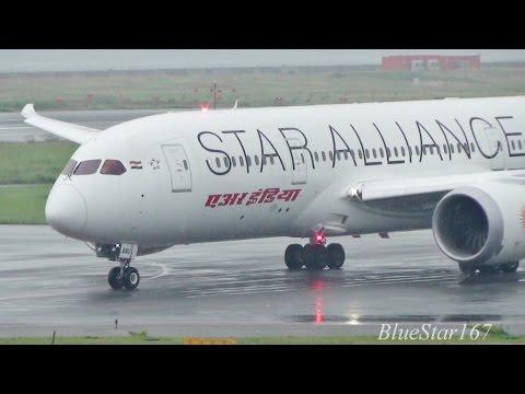 [1st Star Alliance 787] Air India Boeing 787-8 (VT-ANU) takeoff from KIX/RJBB (Osaka - Kansai) 24L