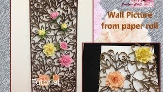 D I Y Wall Pic from paper roll -Tutorial