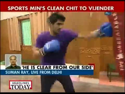 Sports ministry clears boxer Vijender Singh