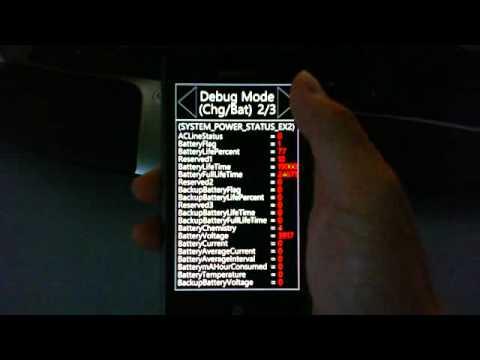 Samsung Omnia 7 debug screens
