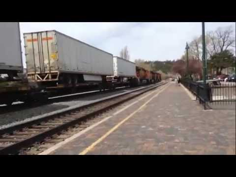 3 BNSF trains Flagstaff Az 4/15/2014