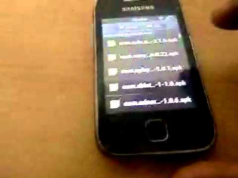 Backing up apps and restoring them on samsung galaxy y