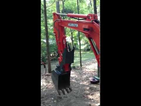 Kubota KX-71 Compact Excavator with USA Attachment Pin-On Hydraulic Thumb by Blathering1