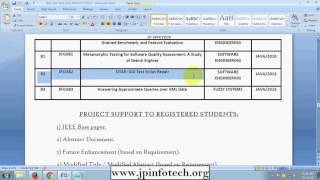 Software Engineering projects 2016 2017, final year ieee software engineering projects in java