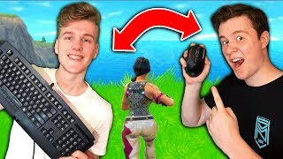 TWO PLAYERS CONTROLLING ONE CHARACTER (Fortnite Battle Royale) ft. Muselk