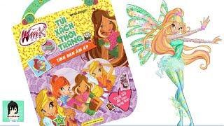 """Sách chơi trò chơi, tô màu, dán hình Winx """"Tình bạn ấm áp""""  #3 / Winx club book Ami Channel"""
