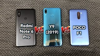 Huawei Y9 2019 vs Pocophone F1 Vs Xiaomi Redmi Note 6 Pro: Speed Test Comparison Review