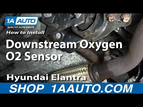 How To Replace Install Downstream Oxygen O2 Sensor 2001-06 Hyundai Elantra 2.0L