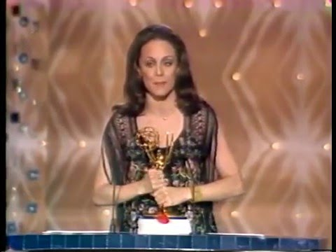 "Valerie Harper wins Best Actress Emmy Award for ""Rhoda"""