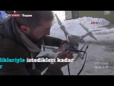 Hakkari Akçalı'da şebeke sorunu yaşayan köy sakinleri, çözümü 'drone'da buldu.