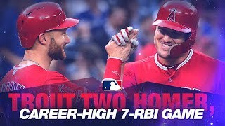Trout crushes slam in 2-homer, 7-RBI win