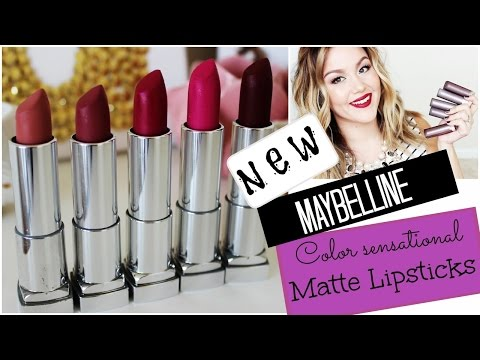 NEW Maybelline Matte Lipsticks   Review + Swatches