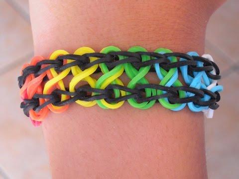 Braccialetto arcobaleno con elastici [HD] www.mammaebambini.it