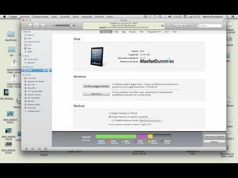[How To] Come fare il backup di un dispositivo Apple prima dell'upgrade a iOS 6