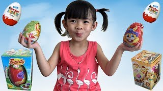 Trò Chơi Bóc Trứng Socola Bất Ngờ - Surprise Chocolate Eggs Unboxing ❤ AnAn ToysReview TV ❤