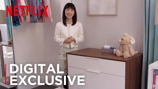 How To Fold Children's Clothes   Tidying Up with Marie Kondo   Netflix