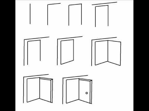 Door Opening Drawing How to Draw an Open Door Step