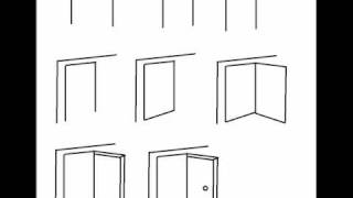How To Draw An Open Door Step By Step Drawing Tutorial