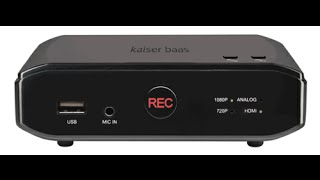 How To Setup Kaiser Baas Game Recorder HD (English)