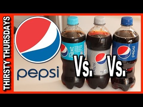 Pepsi Line Up Review and Blind Taste Test - Pepsi. Pepsi Next and Diet