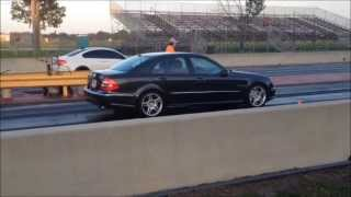 MERCEDES BENZ E55 AMG vs. BMW M3 DRAG RACE...