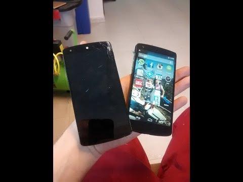 Nexus 5   Pantalla Rota   Sustitución LCD + panel táctil + Marco