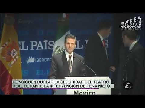 Burlan seguridad y le gritan a Peña Nieto