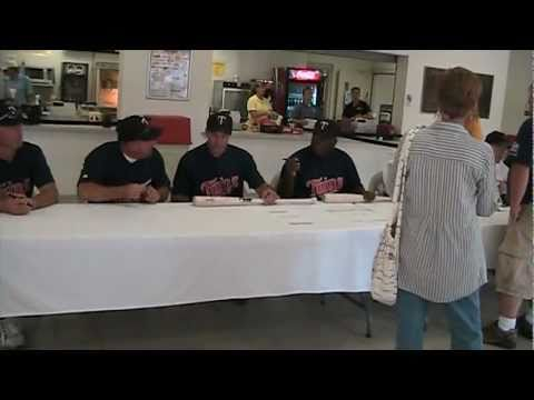 St. Cloud River Bats host their third annual Minnesota Twins alumni game at Joe Faber Field. Proceeds from the event went to the Miracle League of Central Minnesota. Autograph table and introducing...