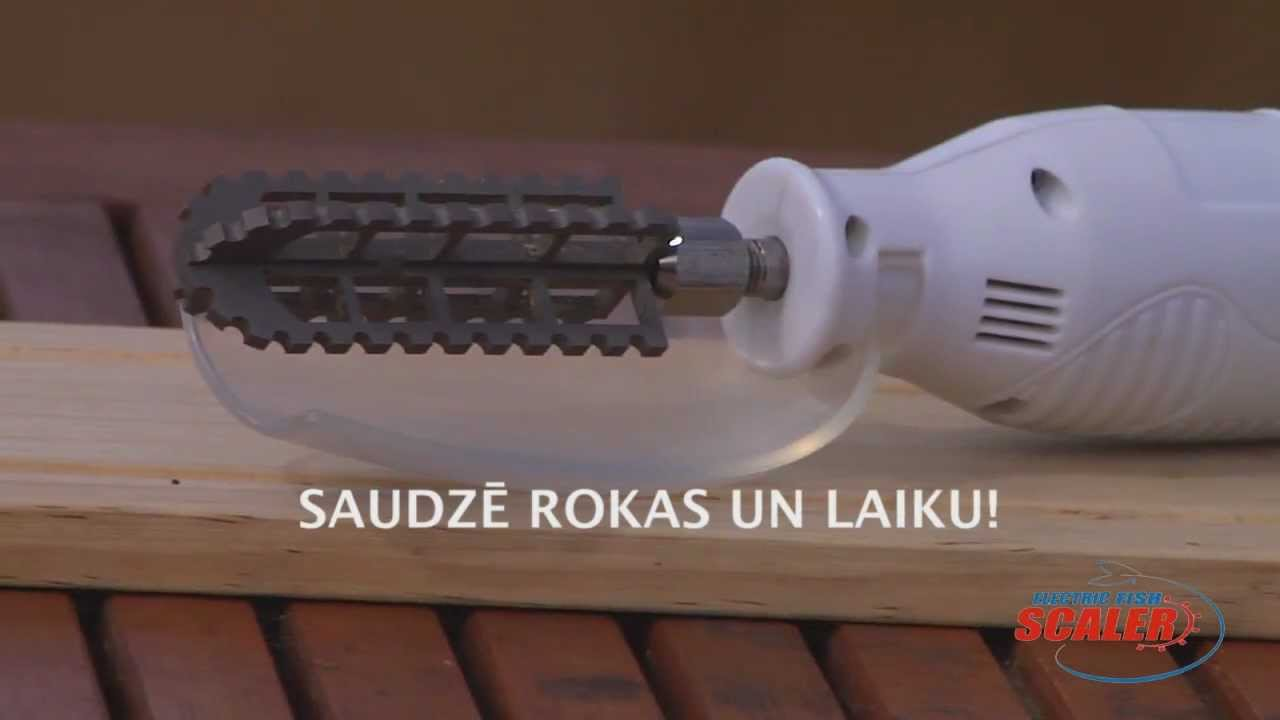 Electric fish scaler promo youtube for Electric fish scaler