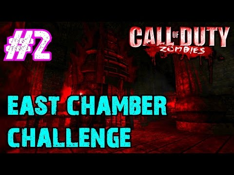 Call of Duty Custom Zombies: EAST CHAMBER CHALLENGE Part 2▐ Spider Hacked the Map!